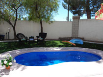 Image of an In-ground Fiberglass Pool installation with Accessories in the GTA