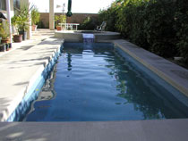 Image of an In-ground Fiberglass Pool after Reparation by Elite Pool Builders in Ontario