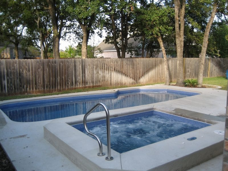 Image of In-ground Fiberglass Pool And Spa in Toronto