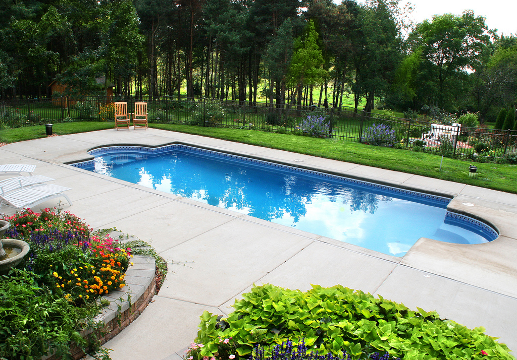 Image of In-ground Fiberglass Pool After Maintenance - Elite Pool Builders