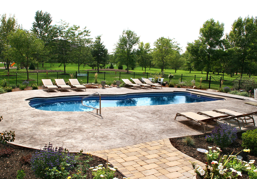 Image of Beautiful In-ground Fiberglass Pool Installation - GTA