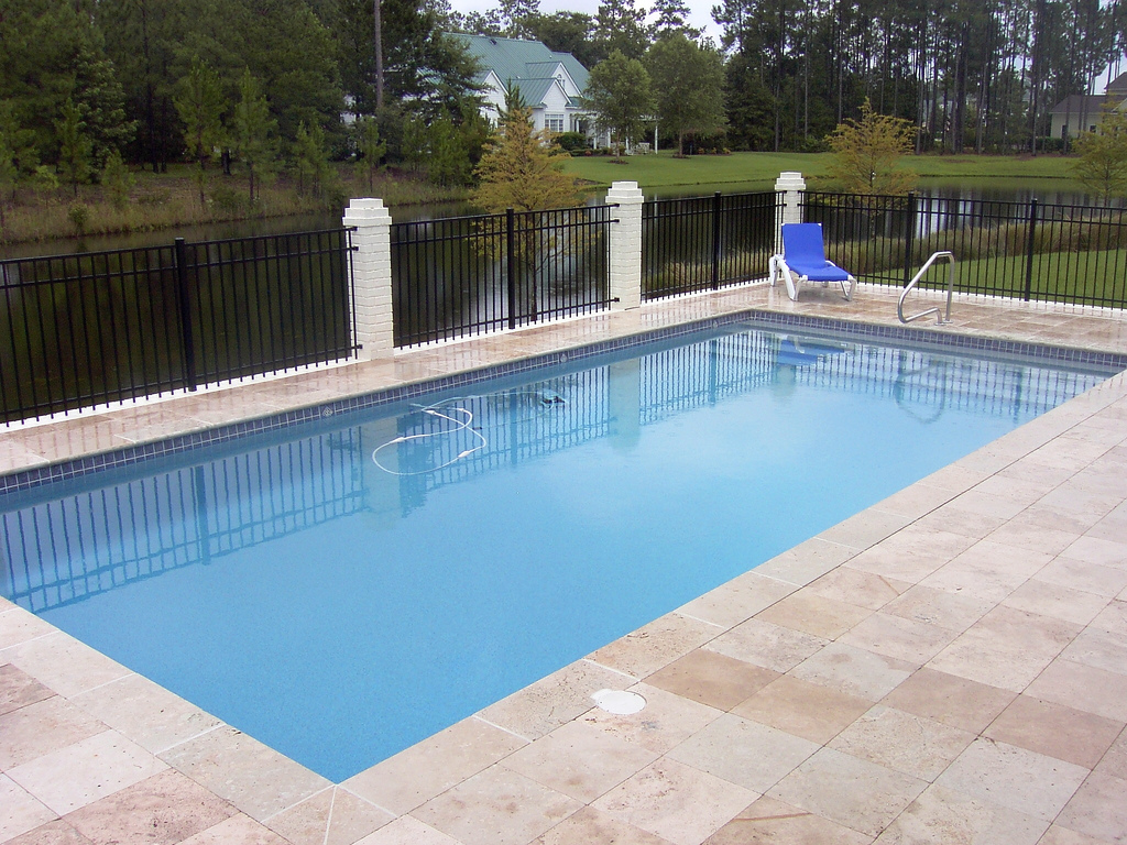 Image of In-ground Fiberglass Pool After Maintenance Toronto & the GTA