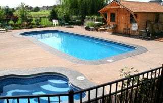 Image of Elite Pool Builders Fiberglass In-ground Pool Installation